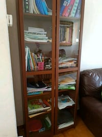 brown wooden framed glass display cabinet Concord, L4K
