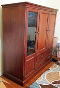 Entertainment Center; Solid Cherry Wood Spring Hill