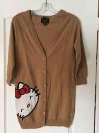 Forever 21 Hello Kitty three quarter length sleeve cardigan size S EUC Brampton, L6R 2S1