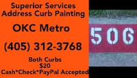 Address Curb Painting Midwest City
