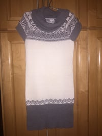 white and gray tribal print cowl-neck knitted dress Surrey, V3X 3K9