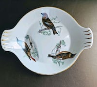 Antique Lourioux Le Faune Birds Fireproof Porcelain Made In France South Bend