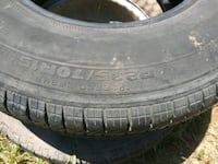 2 tires 1 on rim with air one ok but no rim $10 Oroville