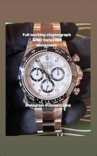 Chronograph automatic watch branded top quality 7750 Chronograph watch