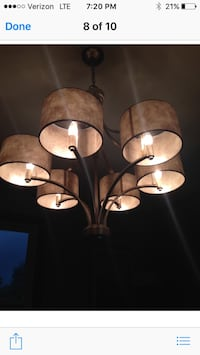 brown uplight chandelier with shade Knoxville, 21758