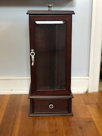 Brown wooden airsoft rifle display cabinet North Chesterfield, 23235