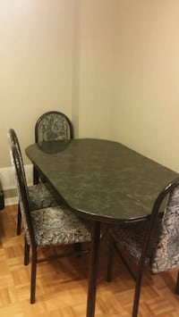 brown wooden dining table set Mississauga