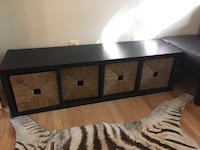 black and white wooden sideboard Alexandria, 22314
