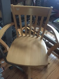 brown wooden windsor armless chair Potomac, 20854