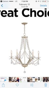Shabby chic chandelier 32 inches Englewood, 80110