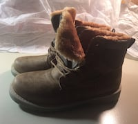 pair of brown suede boots Toronto
