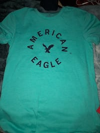 Blue and black american eagle crew-neck t-shrit