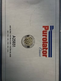 New Purolator air filter A25651 Gaithersburg, 20878