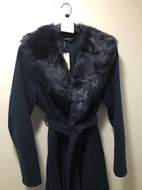 Ladies coat- Navy, size 10, tags still on, polyester/viscose, not lined. Frederick, 21702