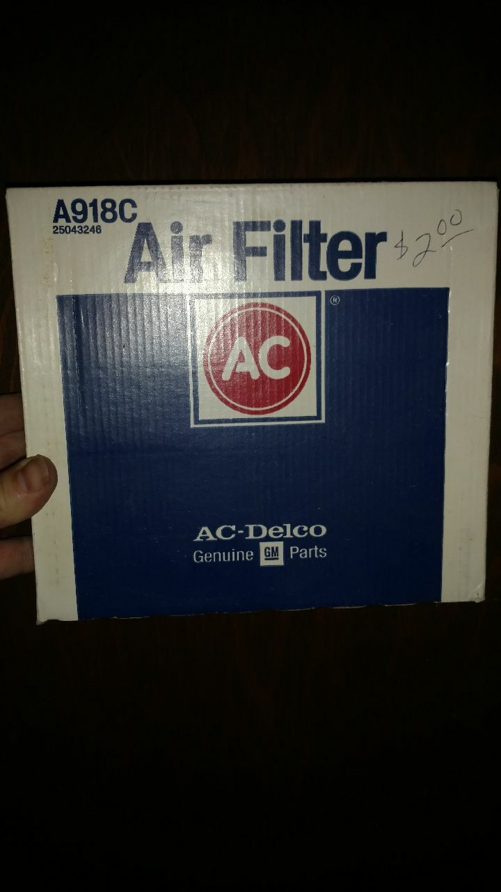 Photo A918C AC Delco Air Filter for Chevy Chevrolet Camaro 1985-1992