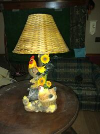 yellow and brown table lamp Wilmer, 36587