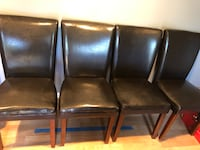 4 dining chairs. Faux Leather in great condition  Olney