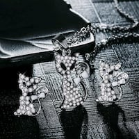 925 Siver Set CZ Crystal Chain Necklace Earring London, N6P 1P6