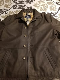 Burberry mens leather jacket 100% real