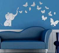 Elephant Mirror wall stickers  Decatur