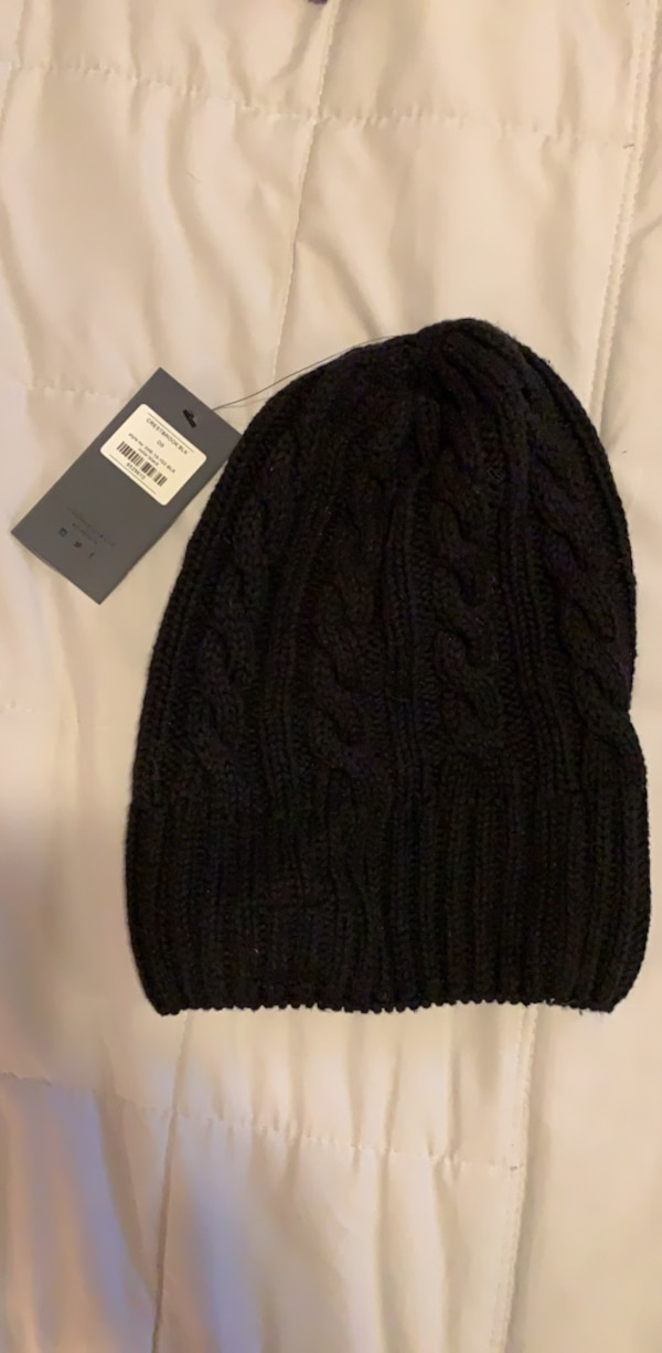 Mens Five Four black knitted beanie