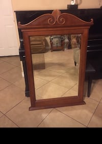 Beautiful mirror made of wood!! In very good condition like new!! 48 Inches tall and 30 Inches wide  Las Vegas, 89178