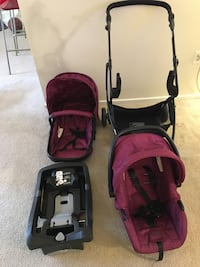 Urbini Omni Plus 3 in 1 Travel System, Special Edition, Raspberry Fizz Temple Hills, 20748