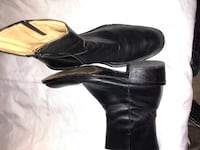 pair of black leather boots Duncanville, 75137