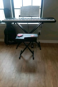 Electronic keyboard with stool