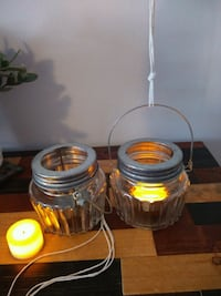 Two glass lanterns with LED candles Vancouver, V6C