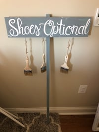 Shoes optional sign used for beach wedding - handmade  Pittsburgh, 15222