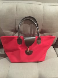 red and black leather tote bag Laval, H7G