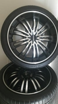 5 Kmc's car rims and tires