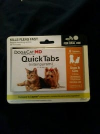 Small dog and cat flee killer quick tabs tablets Tulsa, 74137