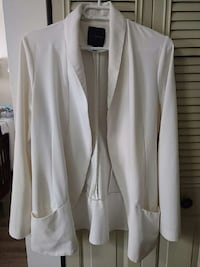 White blazer with pockets