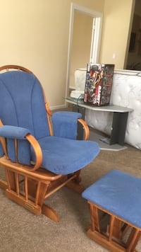 Swing chair with ottoman