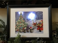 Light up framed Christmas picture.  Price is firm Sherwood Park, T8H 1T4