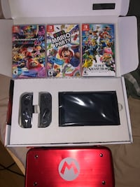 Nintendo Switch w/ 3 games and case Like New