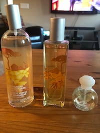 two clear glass perfume bottles Calgary, T2Z 4J4