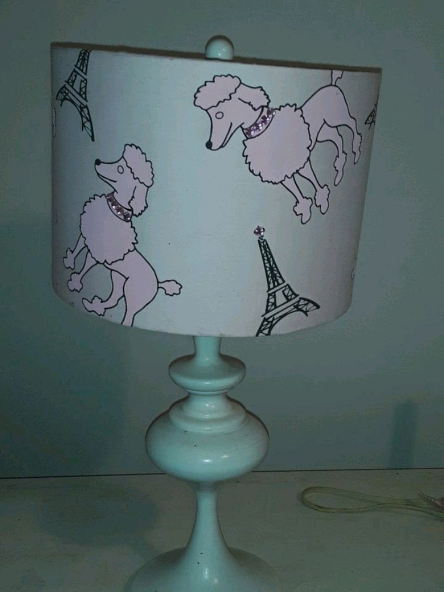 Photo Gently used lamp great for a baby shower gift . Great for kids .