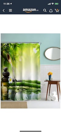 BRAND NEW original packaging tub shower curtain to bring tranquility ( I have a couple if you want to multi bathrooms or gifts!) Port Moody, V3H 4C6