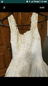 Never worn David's bridal gown size 6