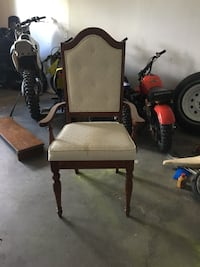 brown wooden armchair