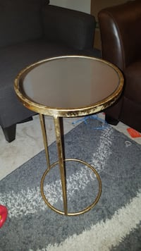 2 gold leaf and mirror side tables Arlington