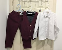 Boys Suit- dress shirt, pant and vest Toronto