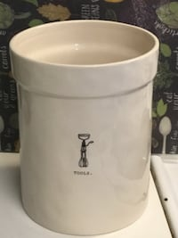 Rae Dunn Artisan Collection kitchen utensil canister. Chantilly