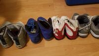 Three pairs of assorted color basketball shoes Mississauga, L4T 2W6