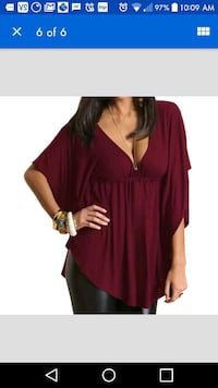 New burgundy/wine red batwing top Montreal, H8T