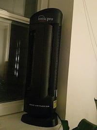 black and gray tower fan 37 km