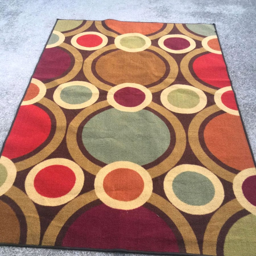 colorful rug (size:7×5ft) like new condition